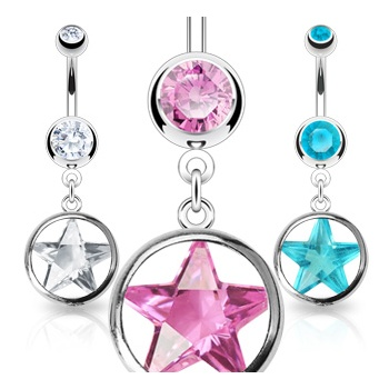 Star Dangle Belly Bar