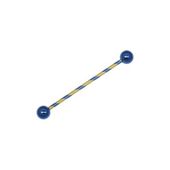 Candy Stripe Scaffold Barbell Yellow & Blue