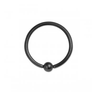 Ball Closure Ring-Black Anodised Steel