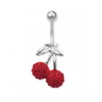 Crystal Encrusted Cherry Belly Bar