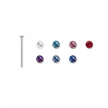 Jewelled Steel Nose Pin