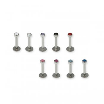 1.2mm Jewelled Labret- 3mm Ball