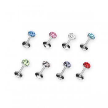 Multi Jewelled Disco Labret Stud