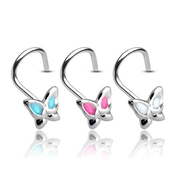 Urban Butterfly Nose Stud Coil