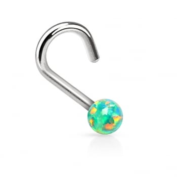 Urban Green Synthetic Opal Nose Stud Coil