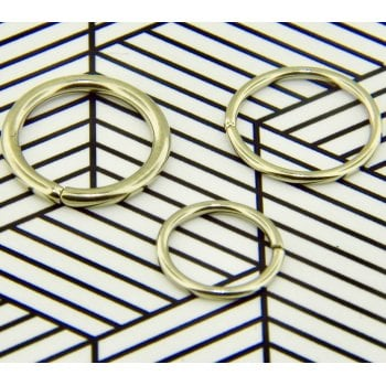 Segment Ring Gold Plated Surgical Steel Seamless Rings