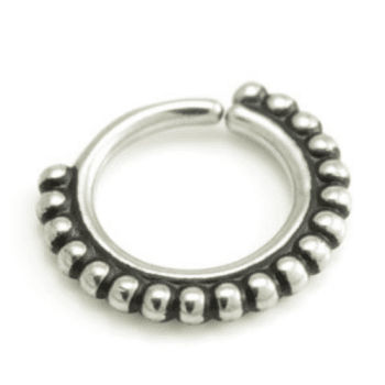 Boho Beaded Seamless Steel Ring