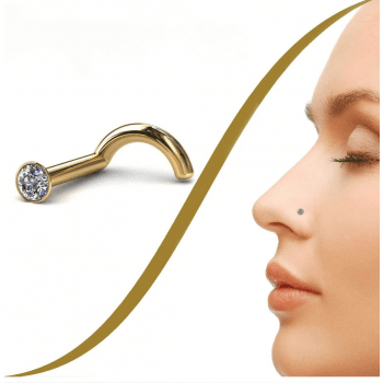BMG Gold Tiny 1.4mm Diamond Nose Stud