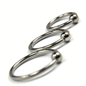 Urban Plain Titanium Ball Closure Ring