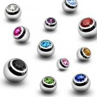 1.6mm Threaded Jewelled Balls
