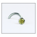BMG Solid Gold Nose Stud 2mm 3pt Yellow Diamond