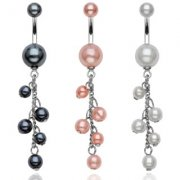 Pearl Dangle Belly Bar