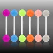 Glow in the Dark Steel Barbell