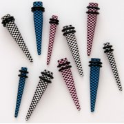 Checkered Stretching Tapers