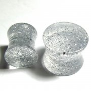 Glitter Saddle Plug Clear