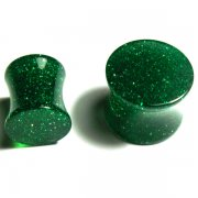 Glitter Saddle Plug Green