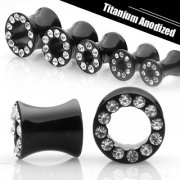 Jewelled Black Saddle Plugs