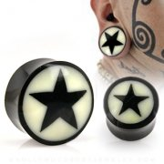 Buffalo Horn Star Saddle Plugs