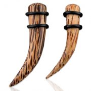 Natural Coco Wood Curved Tapers