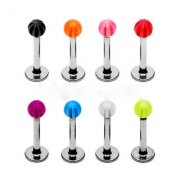 Candy Strip Labret Stud
