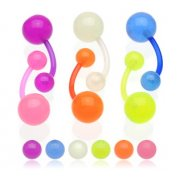 UV Glow In The Dark Flexible Belly Bar