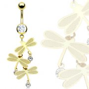 Gold Dragonfly Belly Bar
