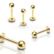 Gold Plated Labret Stud