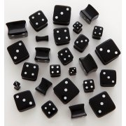 Black Acrylic Dice Plugs