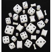 White Acrylic Dice Plugs