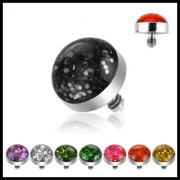 Glitter Dome Dermal Anchor Top