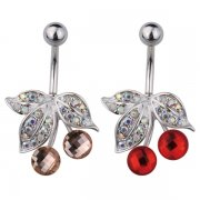 Multi Jewelled Cherry Belly Bar
