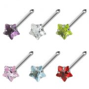 Cubic Zirconia Star Nose Bone Stud