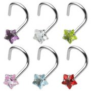 Jewelled Star Nose Stud Coil