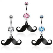 Moustache belly bar