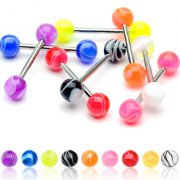 Surgical Steel & UV Marble Style Barbell