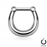 Simple Septum Clicker/Ring in Gold & Silver