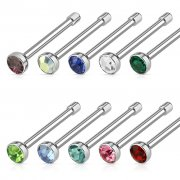 2mm CZ Nose Bone Studs 0.8mm (20ga) Surgical Stainless Steel