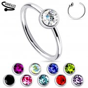 Single Gem End 316L Surgical Steel Nose Ring
