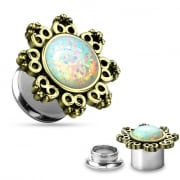 Screw Fit Lotus Opal Flower Tunnel