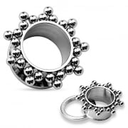 Clustered Balls Steel Screw Fit Flesh Tunnel