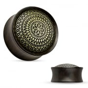 Lattice Pattern Ebony Wood Saddle Fit Plug