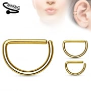 D ring gold plated surgical steel