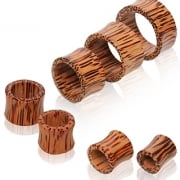 Coconut Wood Flesh Tunnel Ear Plug.
