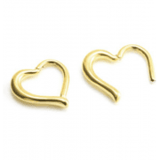 Gold Heart Daith Clicker in Surgical Steel