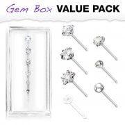 7 Assorted Nose Bone Studs-Various Designs