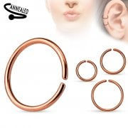 Rose Gold Seamless Surgical Steel Ring 0.8mm