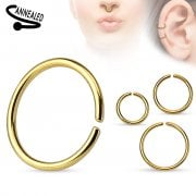 Gold Seamless Surgical Steel Ring 0.8mm