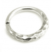 Boho hammered Steel Seemless Ring
