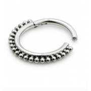 Boho Clicker Ring Titanium 1.2mm
